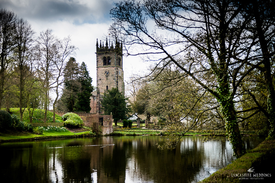 Gawsworth church photo across the lake