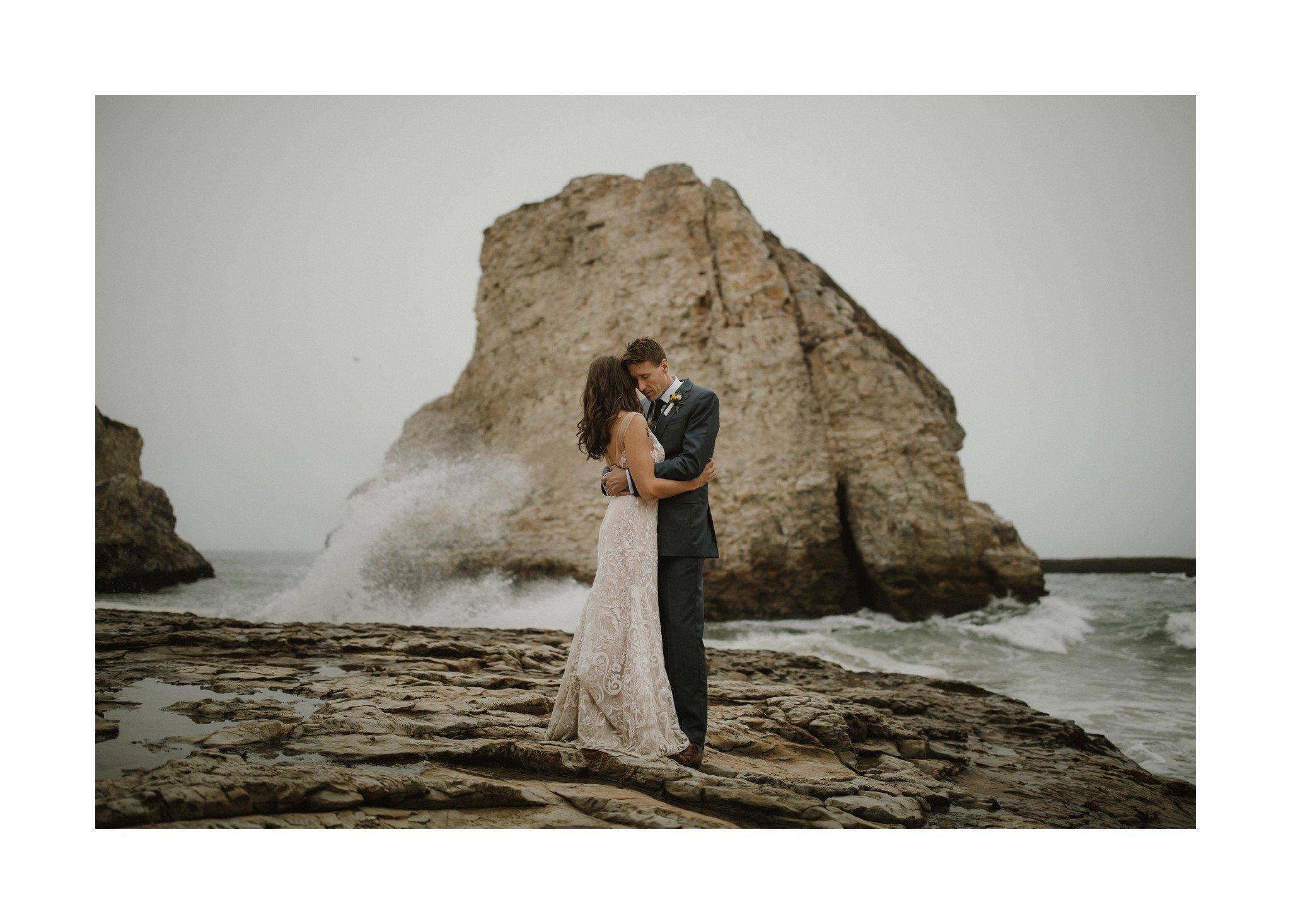 sharkfin rock wedding