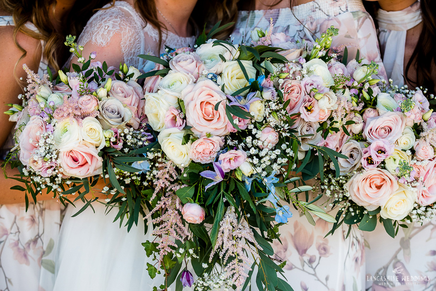 stunning wedding flowers at Sandhole barn