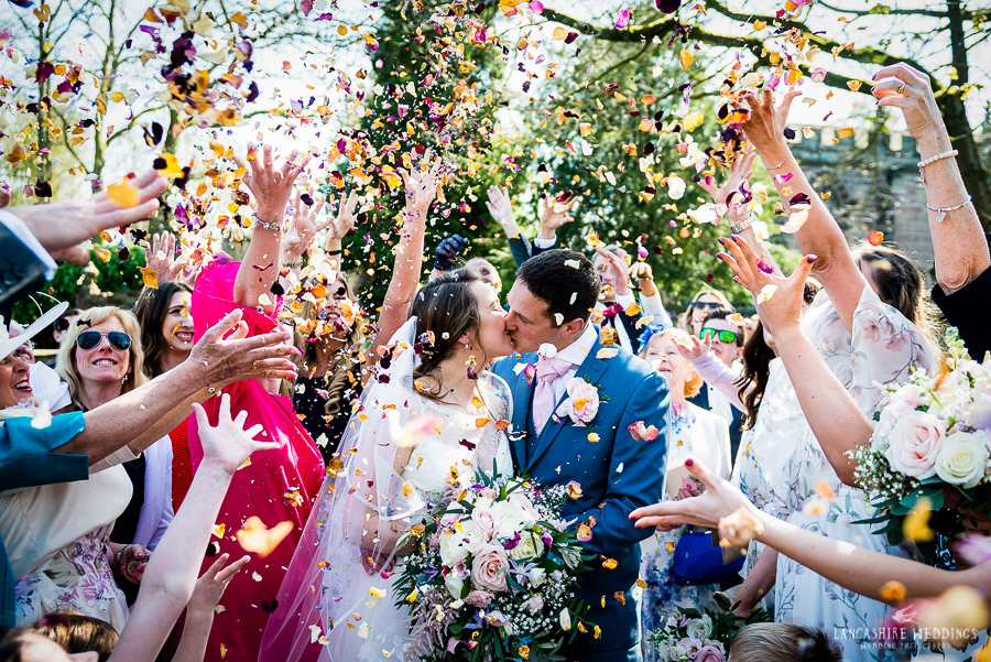 Cheshire wedding confetti shot