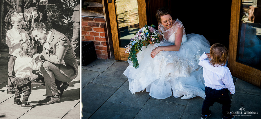 Happy wedding couple at Sandhole Oak Barn