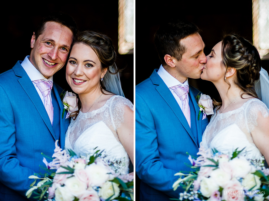 Beautiful first kiss at Gawsworth Church