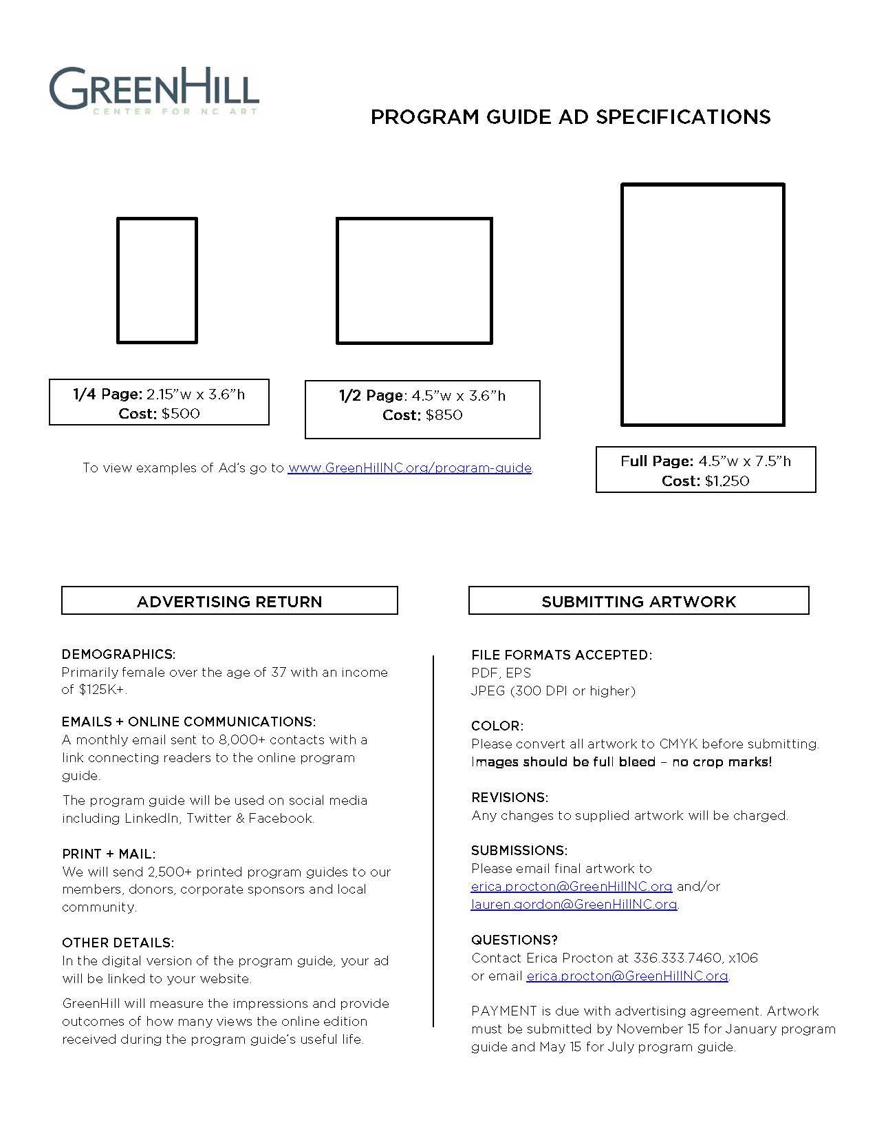 Program Guide info