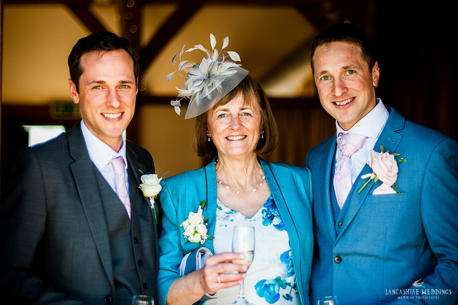 Mother and her sons at Sandhole Oak Barn