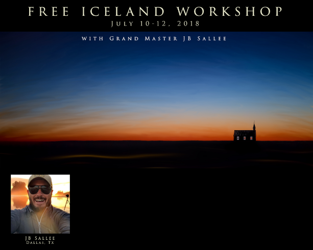 WIN a FREE Workshop in Iceland with JB Sallee