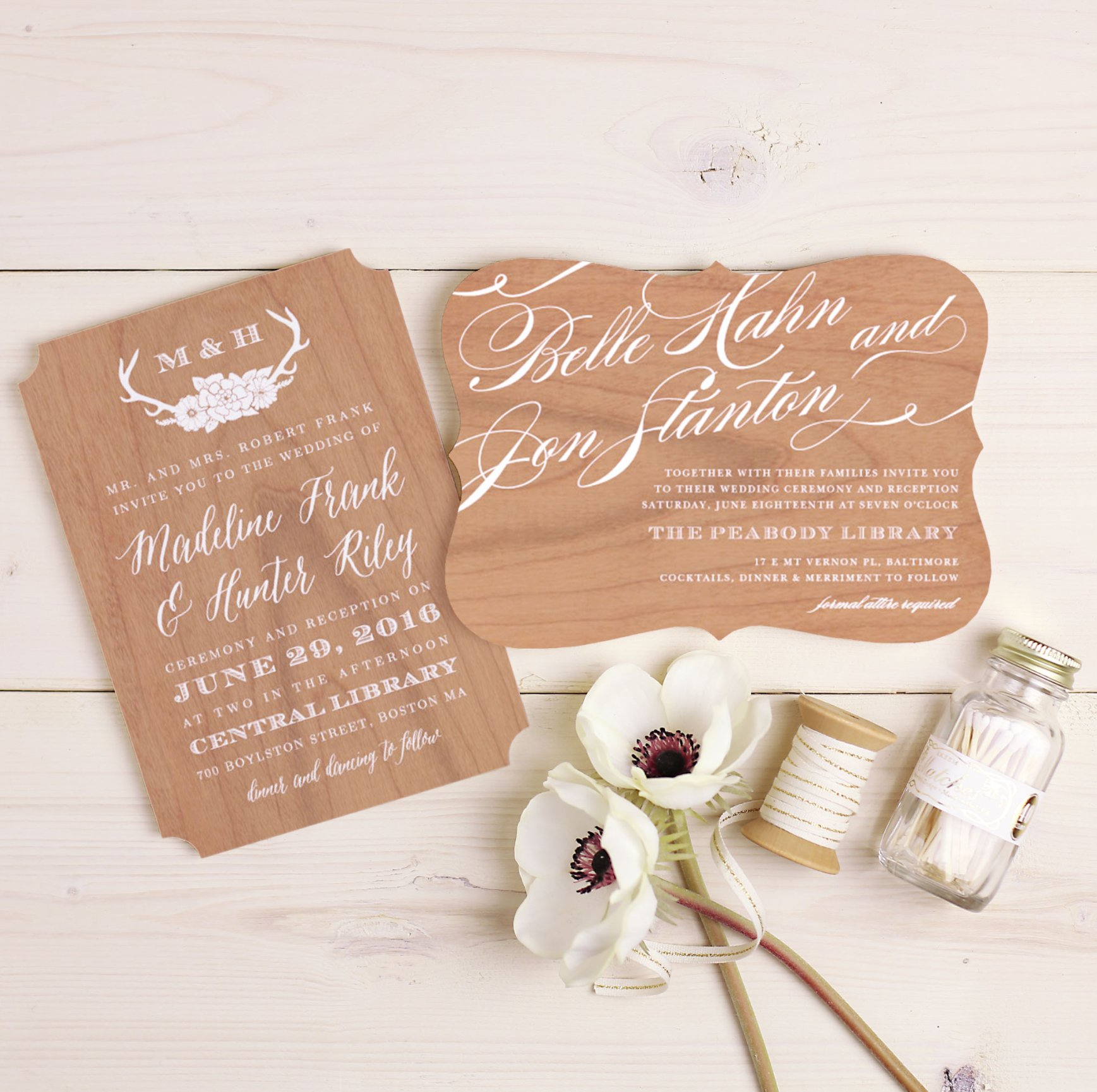 Stunning and Easy Wedding Invitations by Basic Invite Andrea