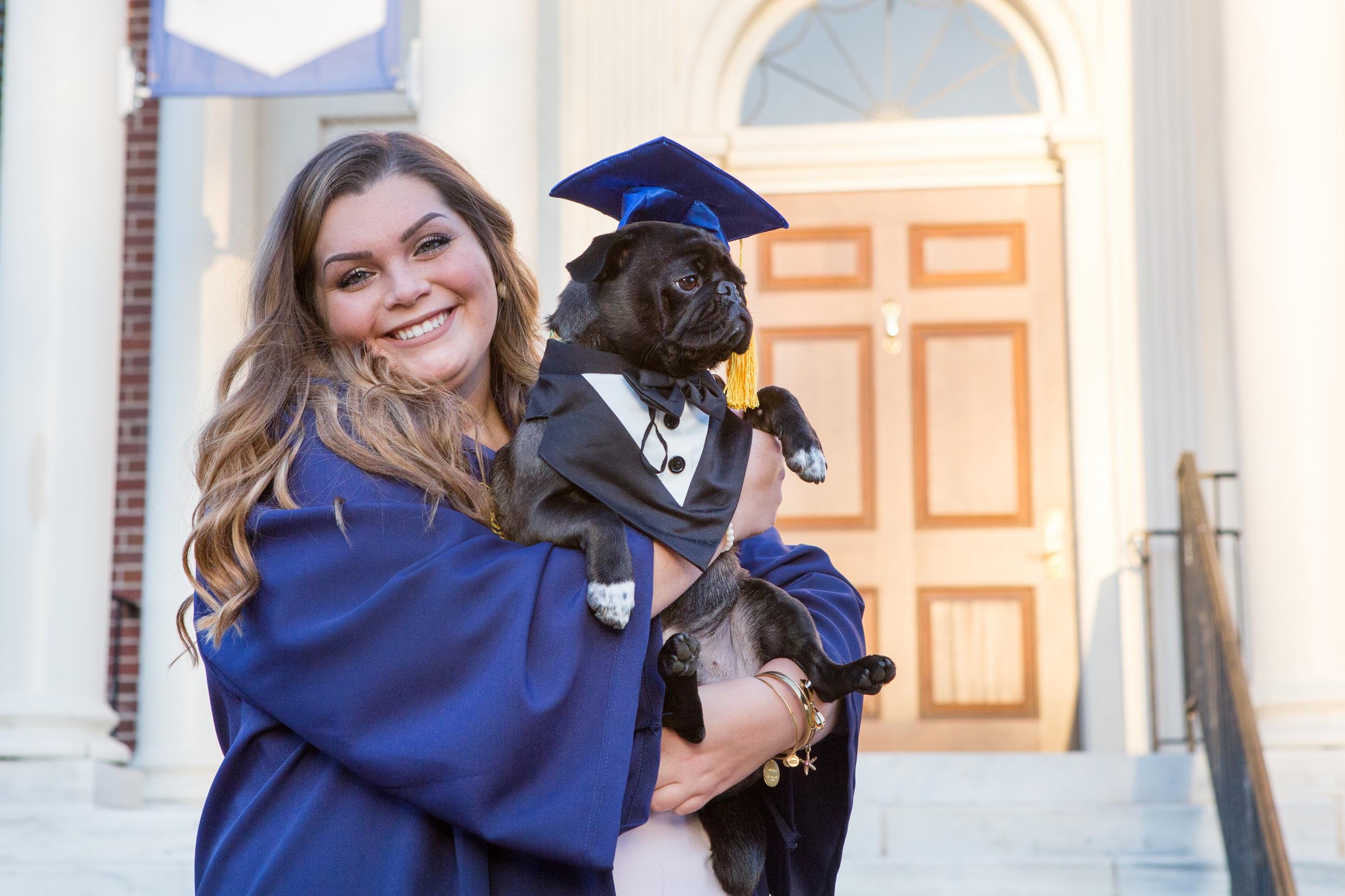 UNCG Cap & Gown and Graduation Session - Elizabeth Larson Photography