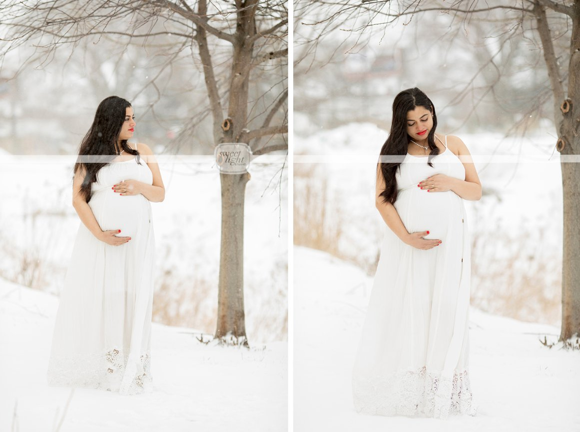 9aa161de6ac60 This will be a fun story to tell their child one day about the April  blizzard that came to Minneapolis the day of her maternity pictures!