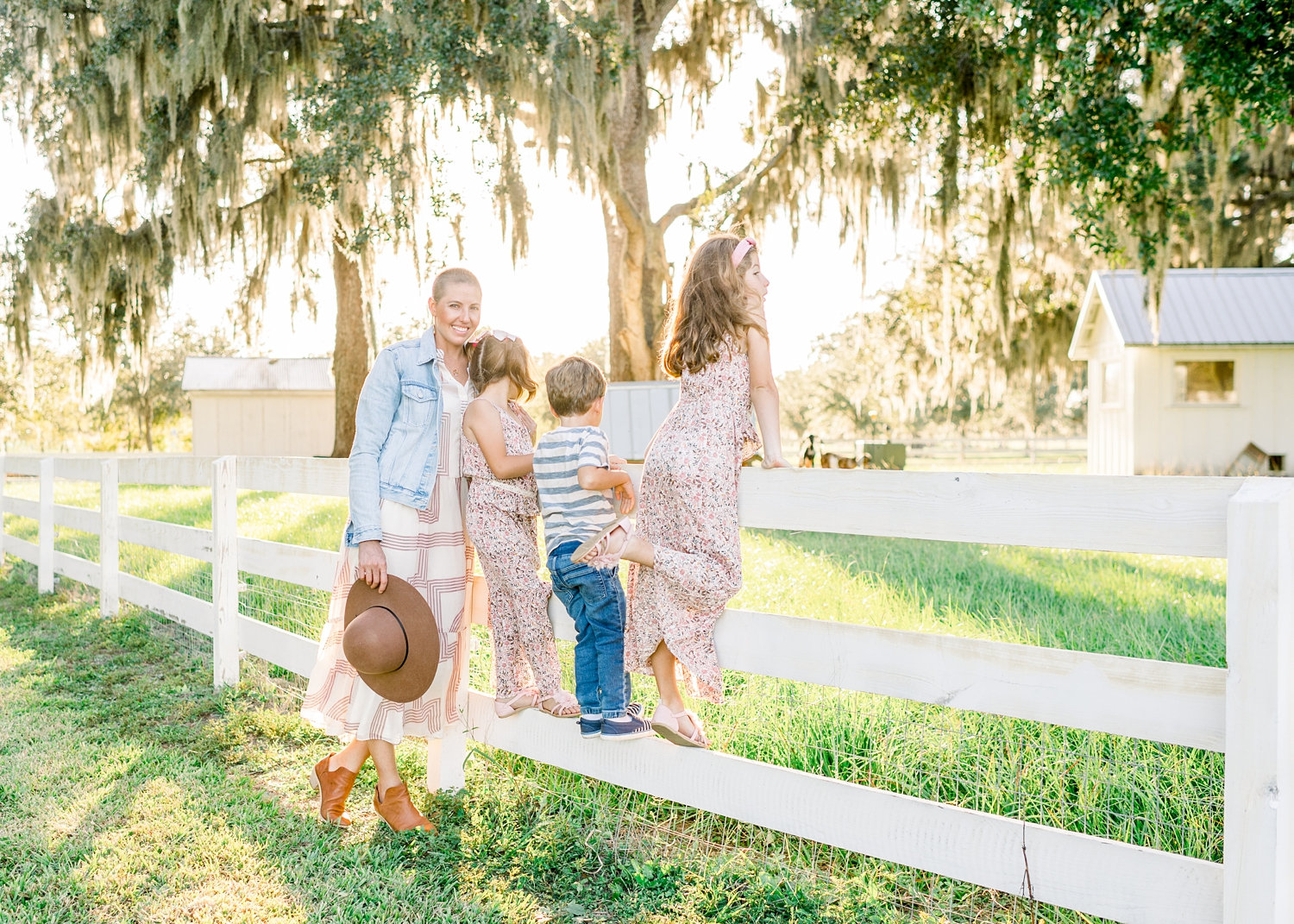 white farm fence, rustic family photo session, Congaree and Penn, Rya Duncklee