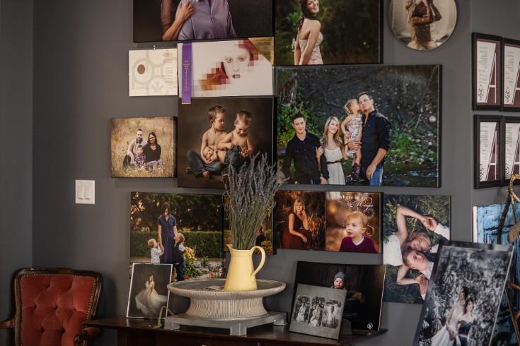 lacombe portrait studio display
